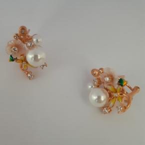 Дамски сребърни обеци-70