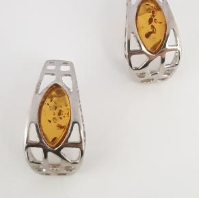 Дамски сребърни обеци-74