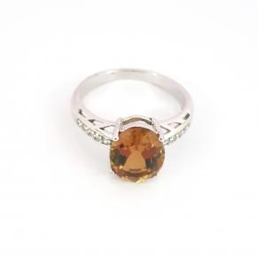 Дамски сребърен пръстен със Султанит-5