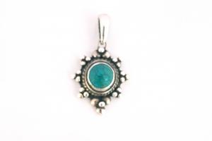 Дамски сребърен медальон -12