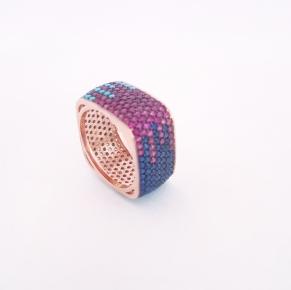 Дамски сребърен пръстен 6