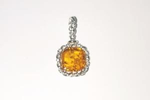 Дамски сребърен медальон -17