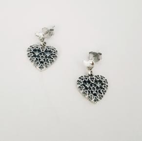 Дамски сребърни обеци-101