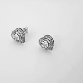 Дамски сребърни обеци-100