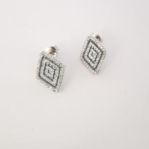 Дамски сребърни обеци-97