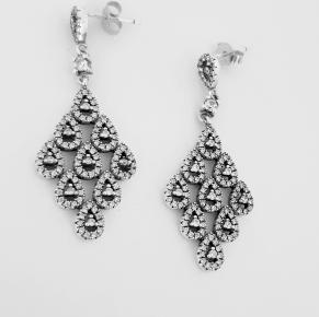 Дамски сребърни обеци-102