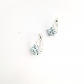 Дамски сребърни обеци-108