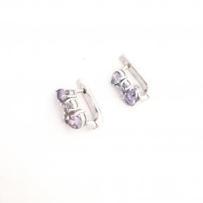 Дамски сребърни обеци-107
