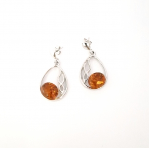 Дамски сребърни обеци-116