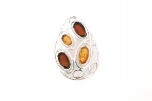 Дамски сребърен медальон -22