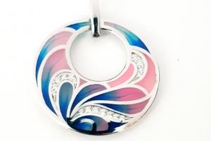 Дамски сребърен медальон 26