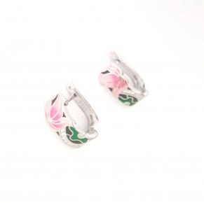 Дамски сребърни обеци -126
