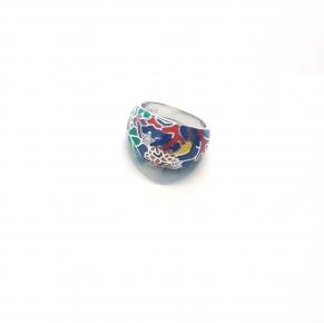 Дамски сребърен пръстен-11
