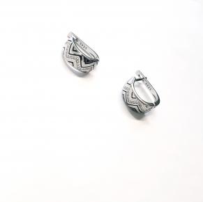 Дамски сребърни обеци -131