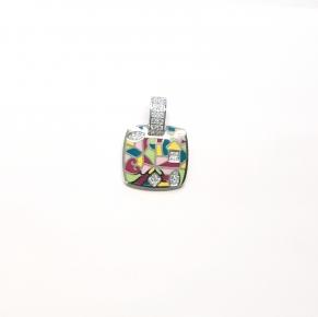 Дамски сребърен медальон 33