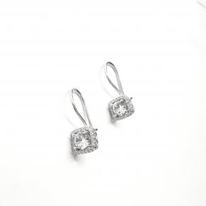 Дамски сребърни обеци -134