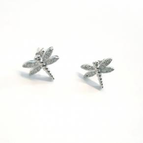 Дамски сребърни обеци -142