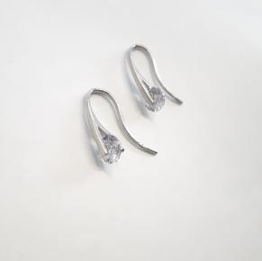 Дамски сребърни обеци -143