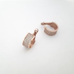 Дамски сребърни обеци -145