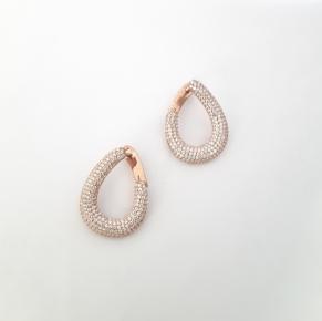 Дамски сребърни обеци -138