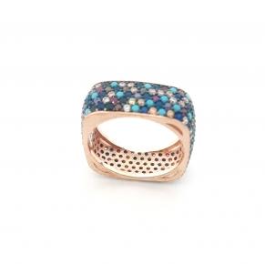 Дамски сребърен пръстен 17