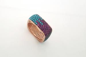 Дамски сребърен пръстен 18