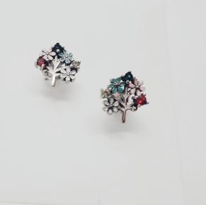 Дамски сребърни обеци -162