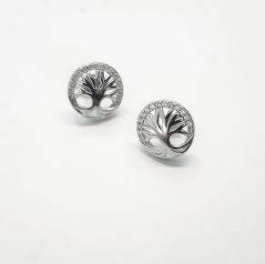 Дамски сребърни обеци -163