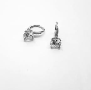 Дамски сребърни обеци -165