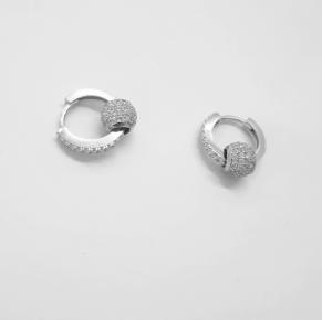 Дамски сребърни обеци -167