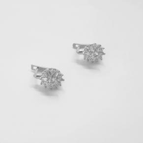 Дамски сребърни обеци -166
