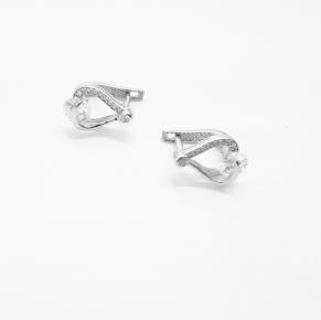 Дамски сребърни обеци -168
