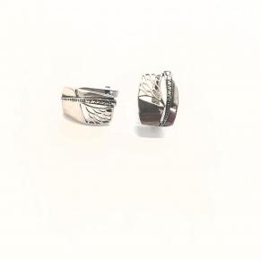 Дамски сребърни обеци -173