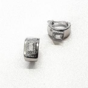 Дамски сребърни обеци -192