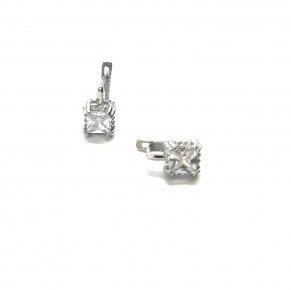 Дамски сребърни обеци -195