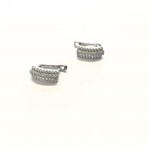 Дамски сребърни обеци -196