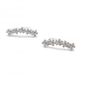 Дамски сребърни обеци -198