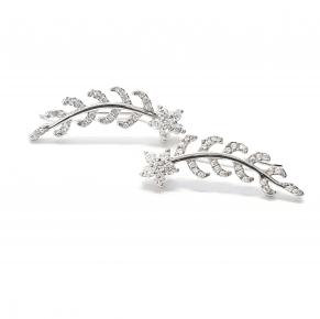 Дамски сребърни обеци -197