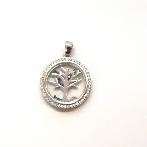 Дамски сребърен медальон 35
