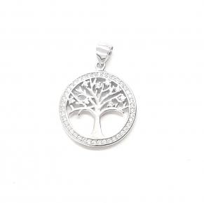 Дамски сребърен медальон 37