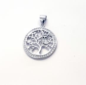 Дамски сребърен медальон 36