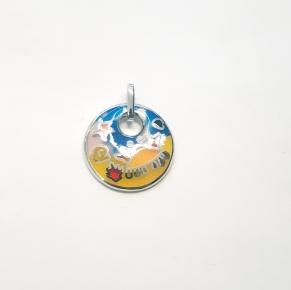 Дамски сребърен медальон-28