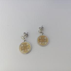 Дамски сребърни обеци-10