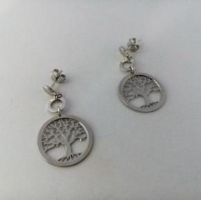 Дамски сребърни обеци-34