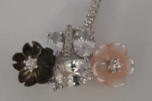 Дамски сребърен медальон-10