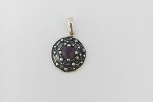 Дамски сребърен медальон-7